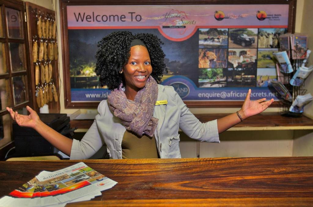 Warm welcome to Island Safari Lodge