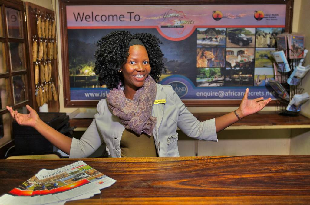 Warm welcome to Island Safari Lodge