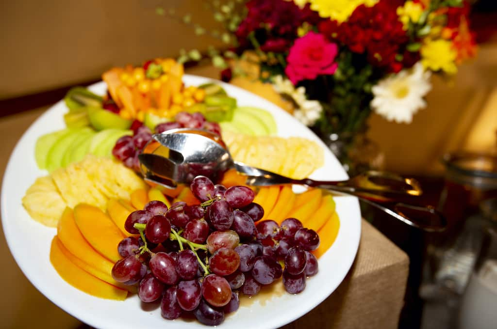 Fresh fruit, Island Safari Lodge restaurant